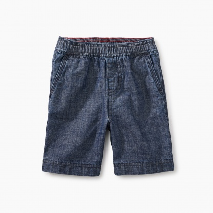 Easy Does It Chambray Baby Shorts