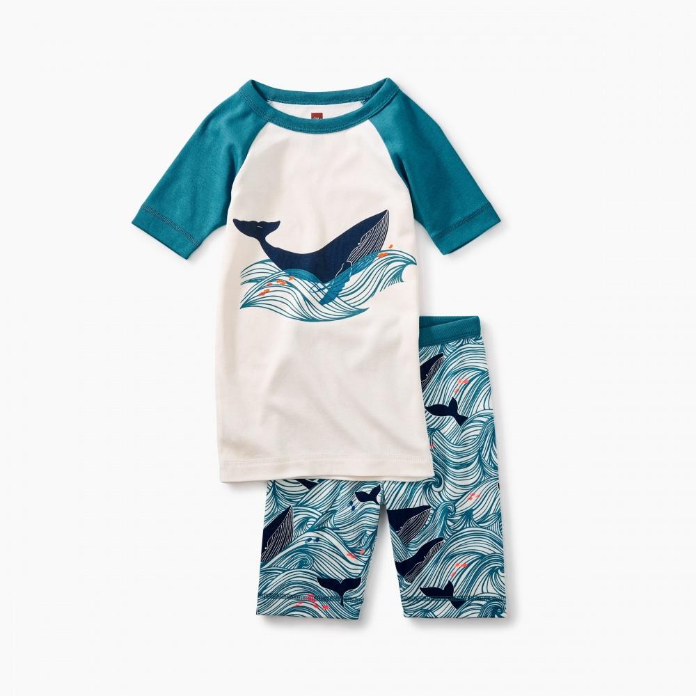 Wavey Whale Pajamas
