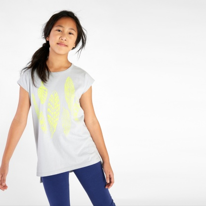 Neon Feather Graphic Tunic