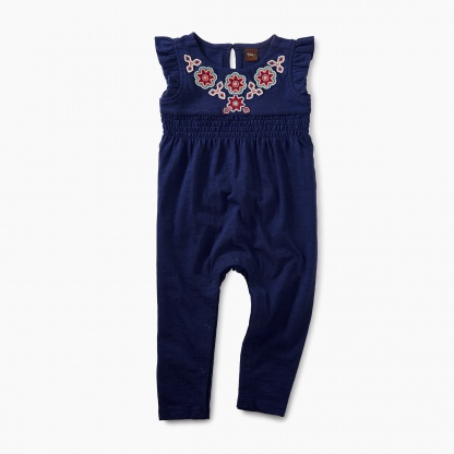 Berry Embroidered Romper