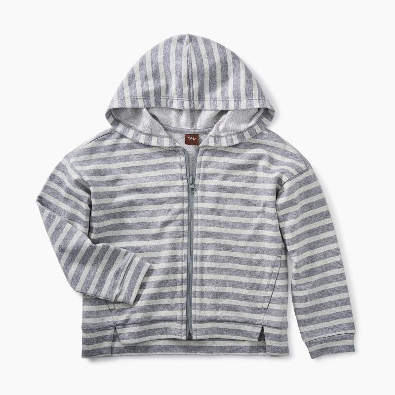 Classic Stripe Zip Hoodie