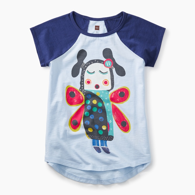 Lomayesva Butterfly Girl Graphic Tee