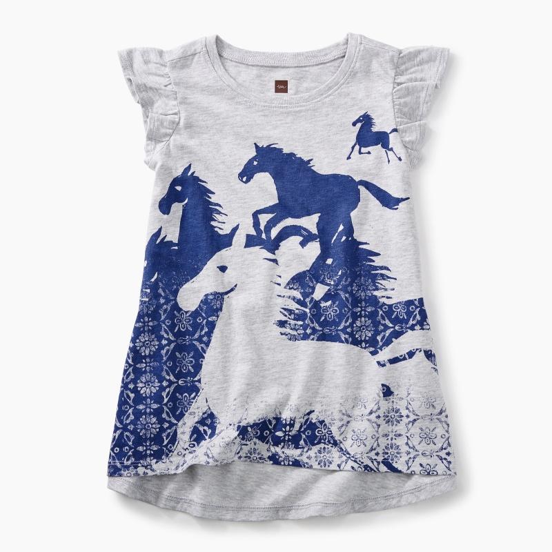 Wild Horses Twirl Top