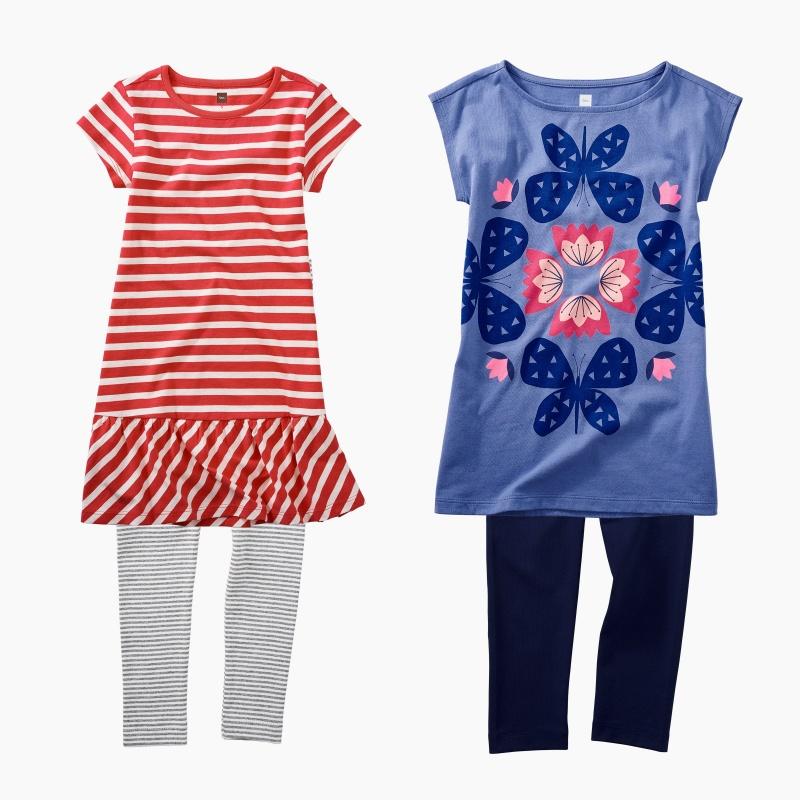 Stripes & Butterflies Dress Set