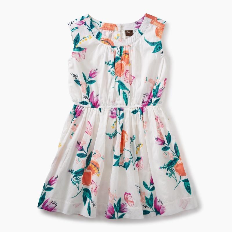 Peach Flower Dress