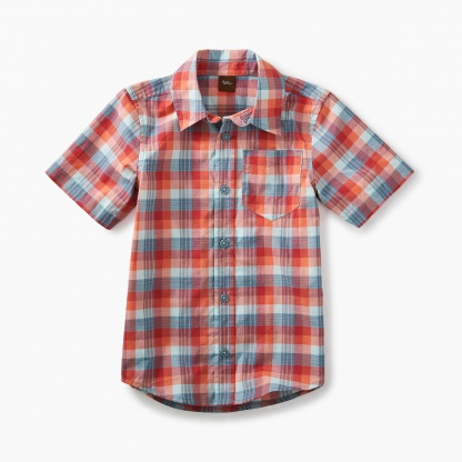 Plaid short sleeve Button Shirt