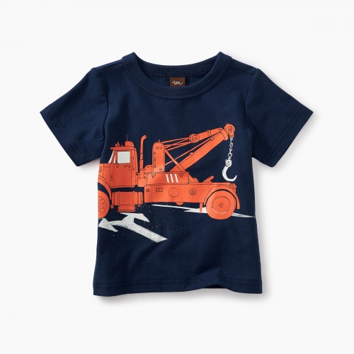 Tow Truck Graphic Baby Tee