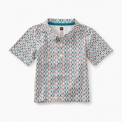 African Print Polo