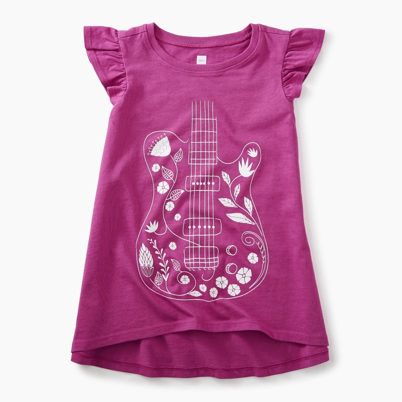 Floral Guitar Twirl Top