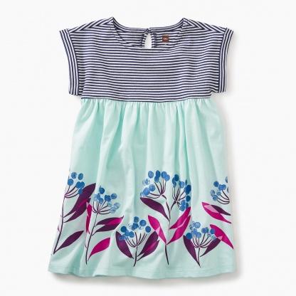 Blue Florals Empire Dress