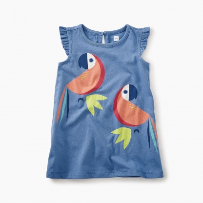 Parrot Graphic Baby Dress