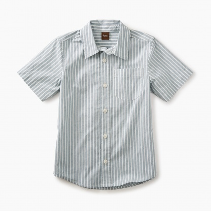 Striped short sleeve Button Shirt