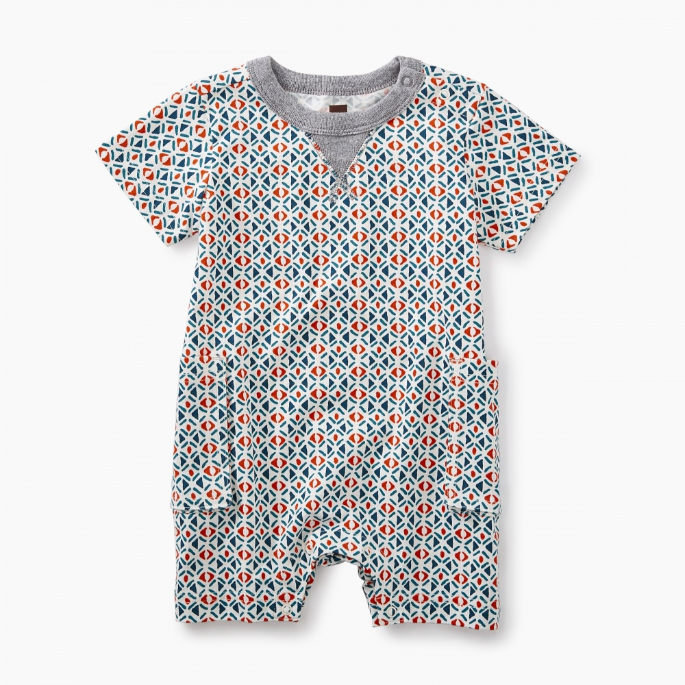 Tea Collection African Print Romper