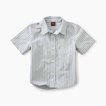 Striped short sleeve Button Baby Shirt