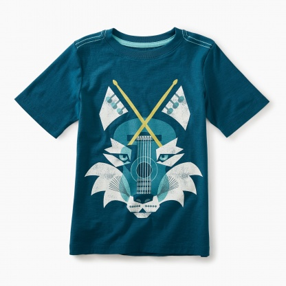 Music Wolf Graphic Tee