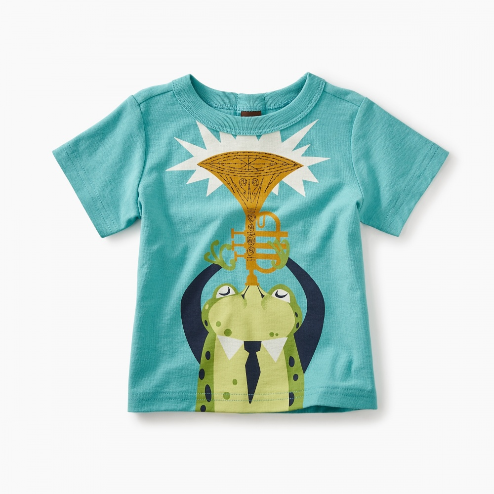 Jazz Frog Graphic Baby Tee
