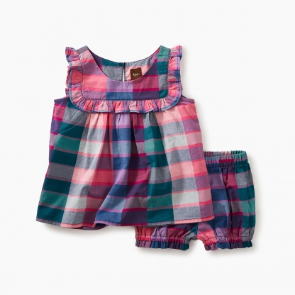 Plaid Baby Outfit