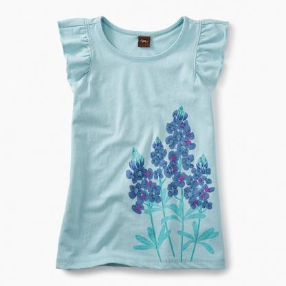 Blue Bonnet Ruffle Knit Top