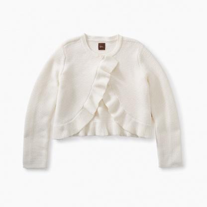 Ruffle Sweater Cardigan