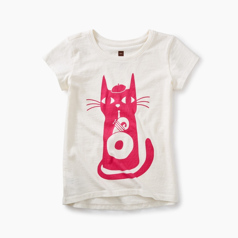 Jazz Cat Graphic Tee