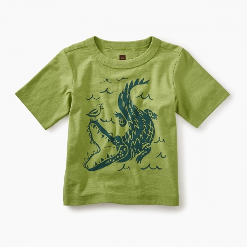 Alligator Graphic Baby Tee