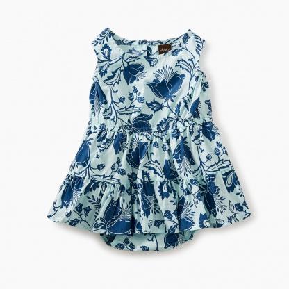 Tiered Skirt Romper Dress