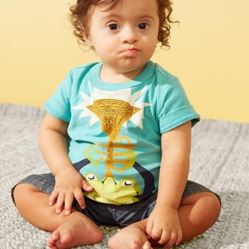 Jazz Frog Graphic Baby Tee