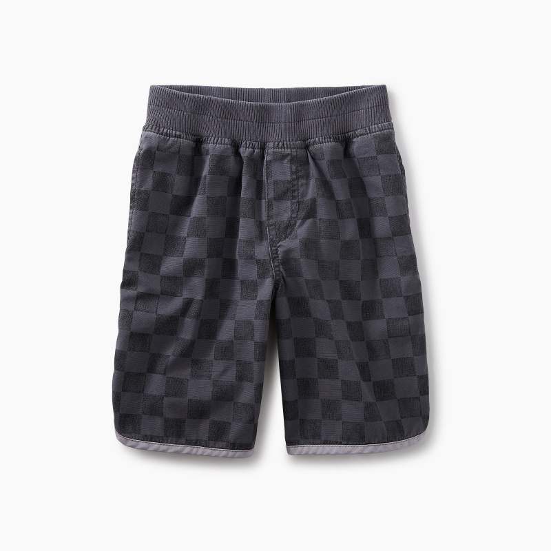 Print Piped Shorts