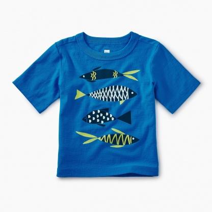 School of Fish Graphic Baby Tee