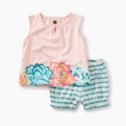 Floral Ruffle Bloomer Baby Outfit