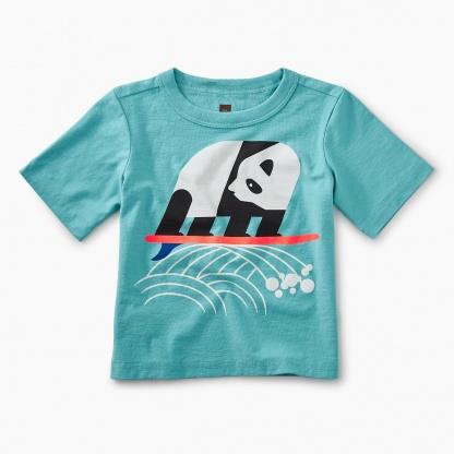 Surfing Panda Graphic Baby Tee
