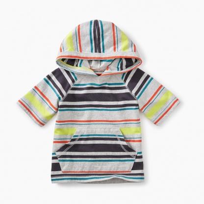 Short Sleeve Happy Baby Hoodie