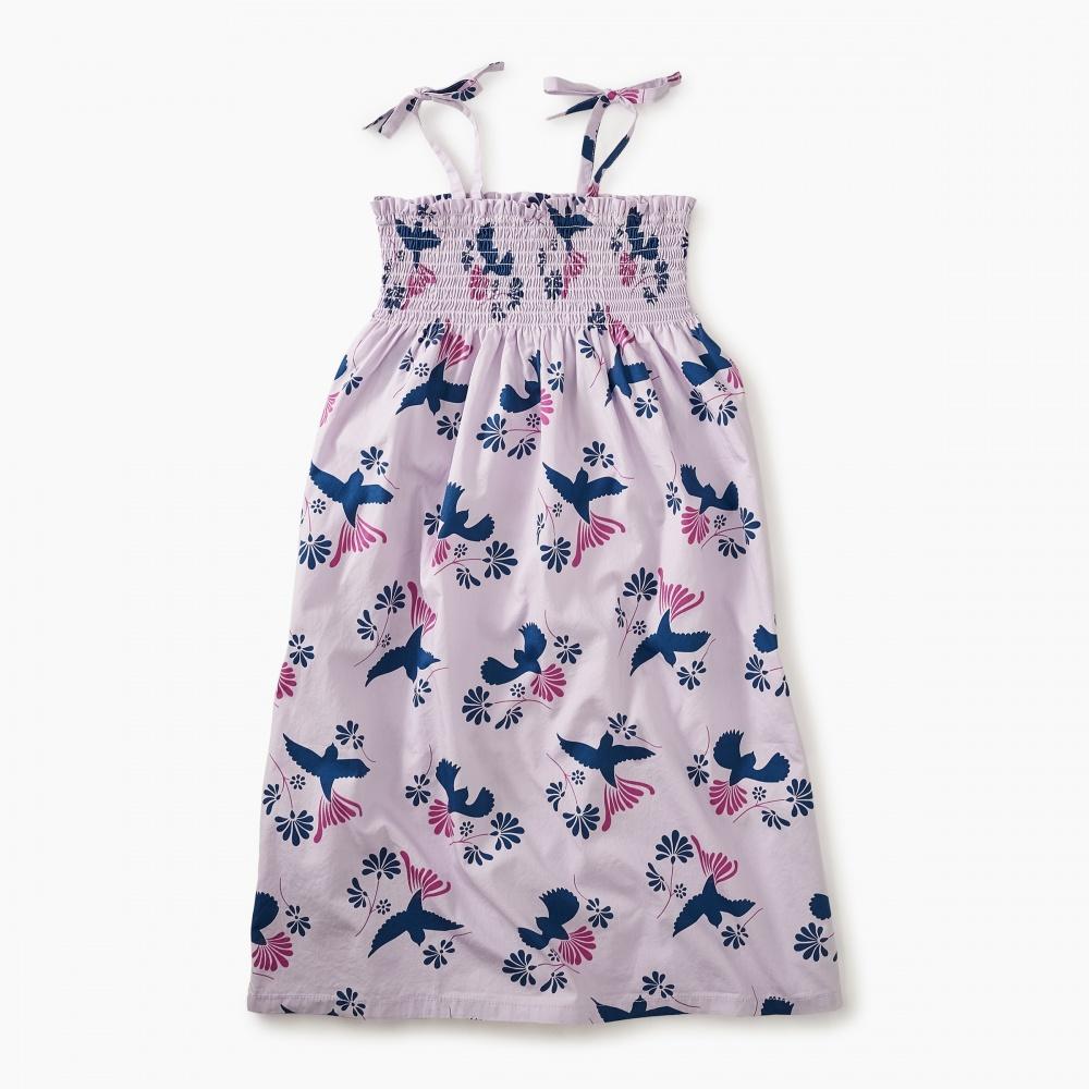 Tie Shoulder Midi-Length Dress