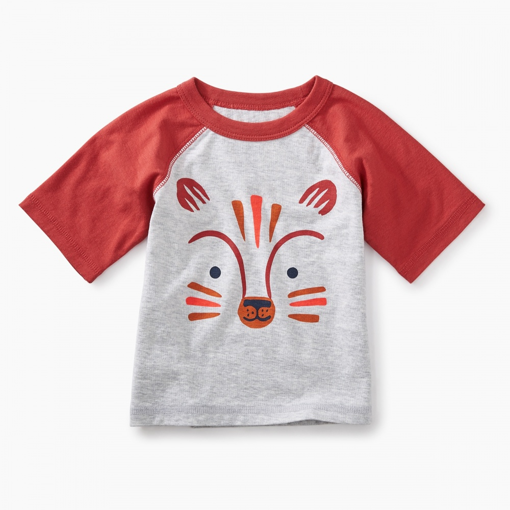 Fox Graphic Baby Raglan Tee
