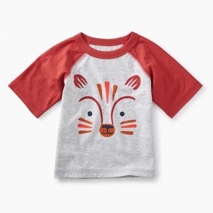 Fox Graphic Baby Raglan Tee