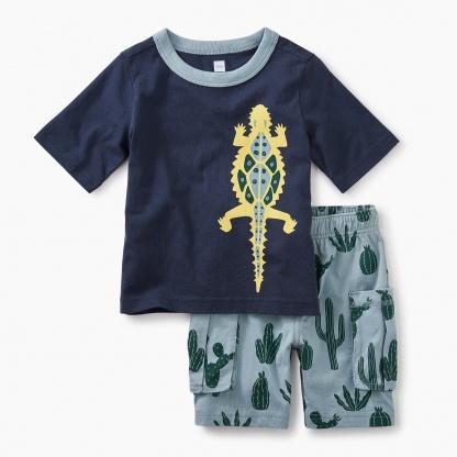 Desert Lizard Baby Outfit