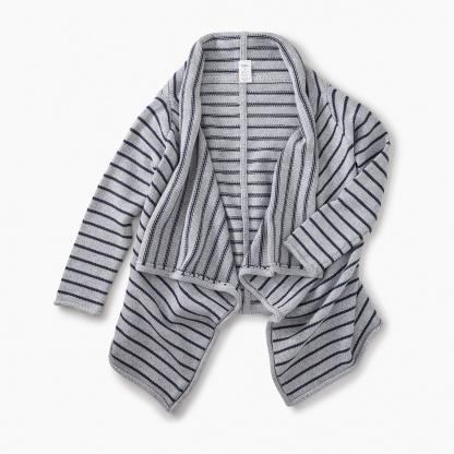 Striped Drapey Cardigan