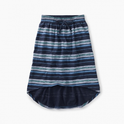 Painted Stripe Hi-Lo Skirt