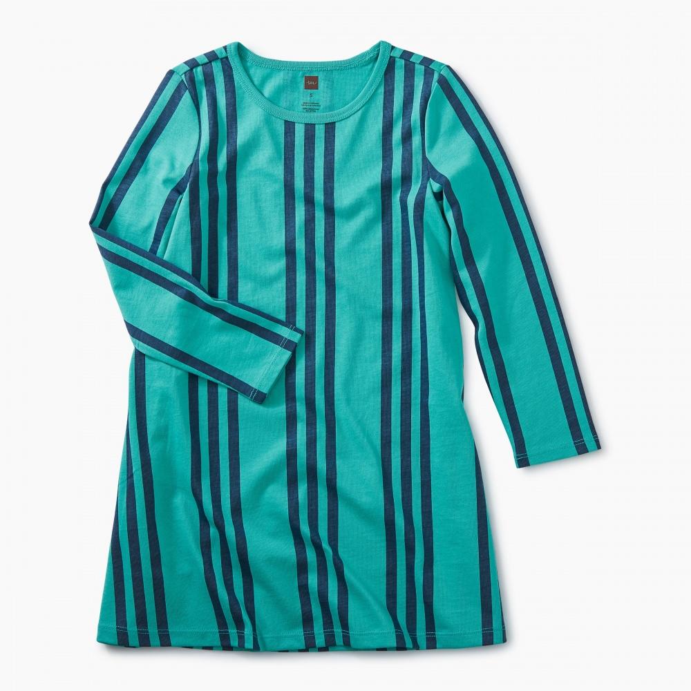 Printed Side Pleat Dress
