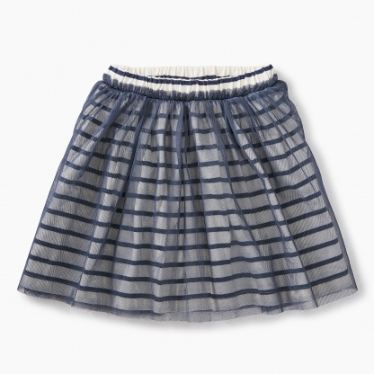 Striped Tulle Twirl Skirt