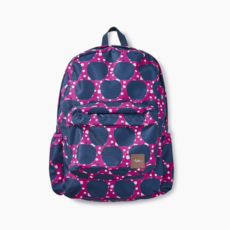 Apple Wax Print Backpack