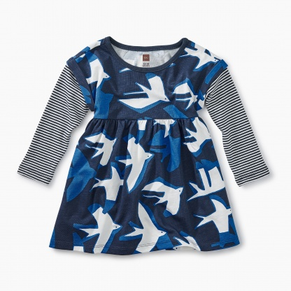 Layered Sleeve Baby Dress