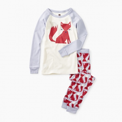 Friendly Fox Graphic Pajamas