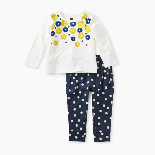 Floral Graphic Baby Set