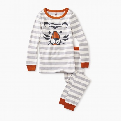 Striped Tiger Graphic Pajamas
