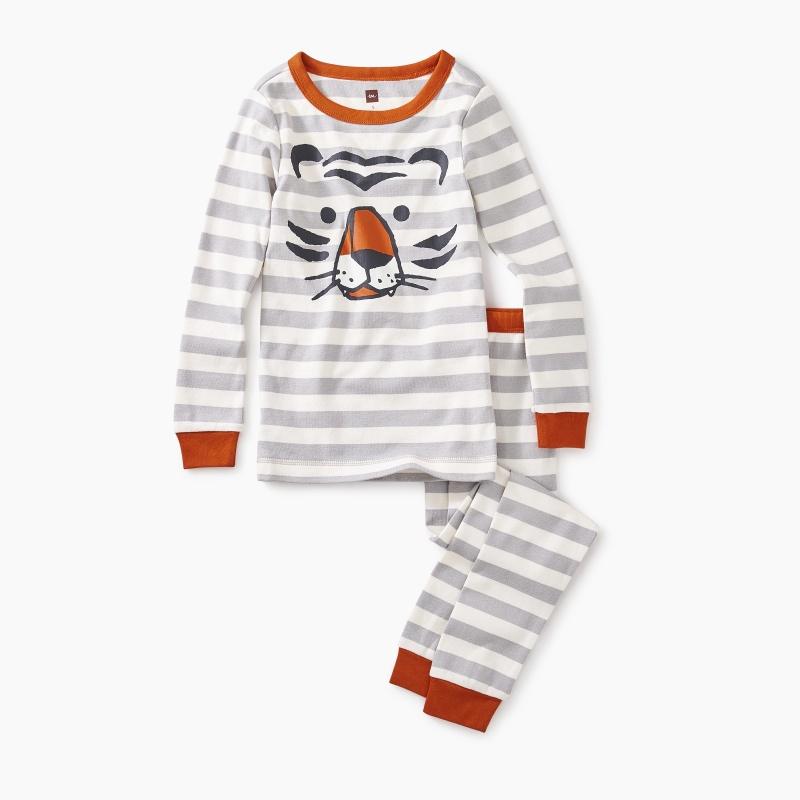 Striped Tiger Graphic Pajamas