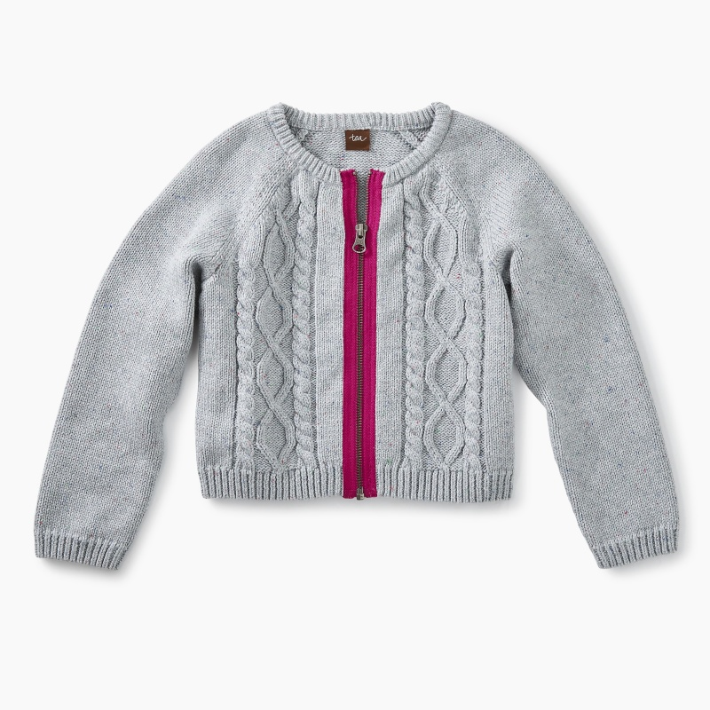 Donegal Cable Zip Cardigan