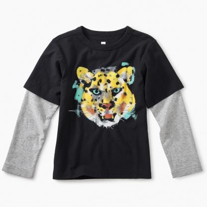 Cheetah Layered Graphic Tee