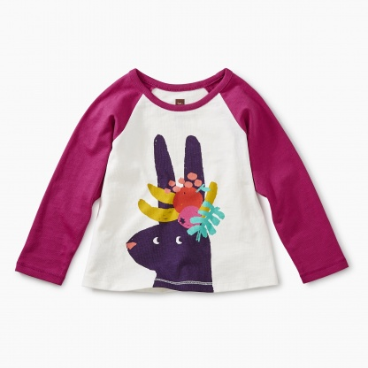 Fruit Bunny Raglan Graphic Tee