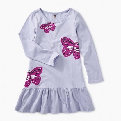 Graphic Ruffle Dress
